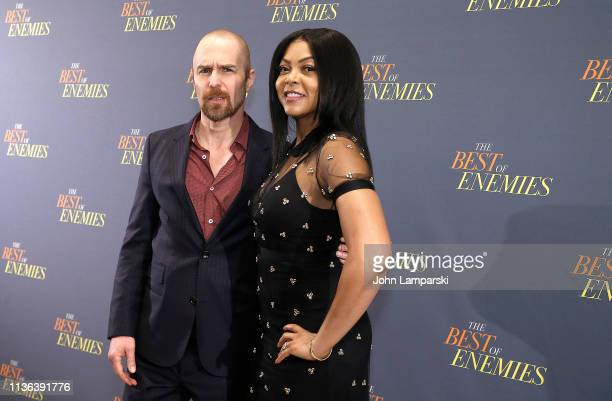 Sam Rockwell and Taraji P Henson attend 'The Best Of Enemies' New York Photo Call at the Whitby Hotel on March 17 2019 in New York City