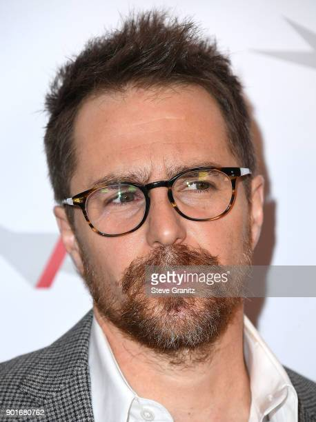 Sam Rockwell arrives at the 18th Annual AFI Awards on January 5 2018 in Los Angeles California