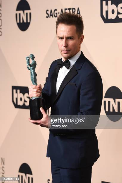 Sam Rockwell attends 24th Annual Screen Actors Guild Awards - Press Room on January 21, 2018 in Los Angeles, California.