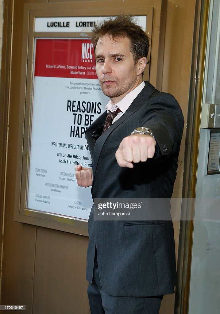 Sam Rockwell attends 'Reasons To Be Happy' Broadway Opening Night at the Lucille Lortel Theatre on June 11, 2013 in New York City.