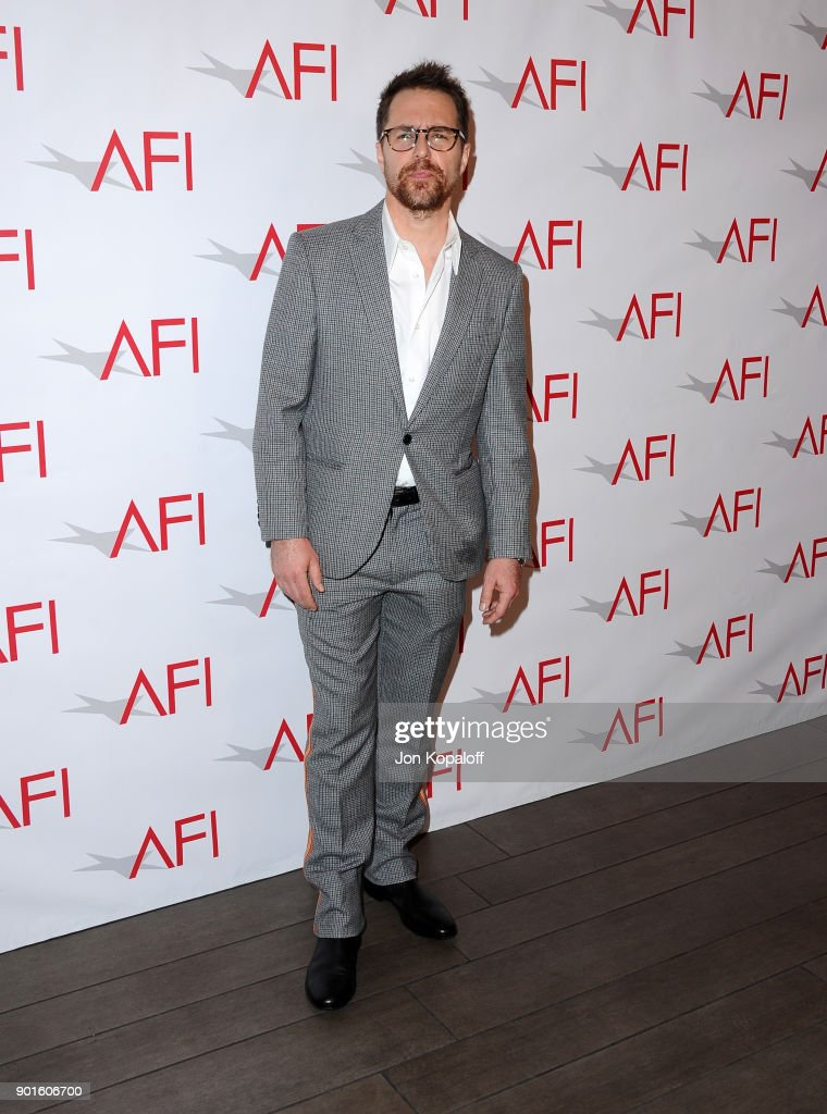 Sam Rockwell attends the 18th Annual AFI Awards at Four Seasons Hotel Los Angeles at Beverly Hills on January 5, 2018 in Los Angeles, California.