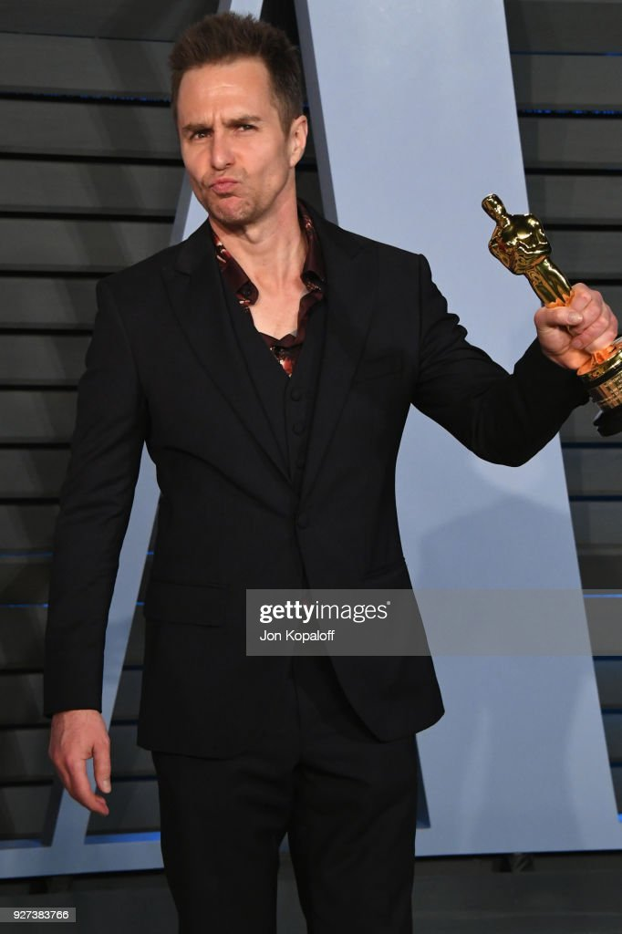 Sam Rockwell attends the 2018 Vanity Fair Oscar Party hosted by Radhika Jones at Wallis Annenberg Center for the Performing Arts on March 4, 2018 in Beverly Hills, California.