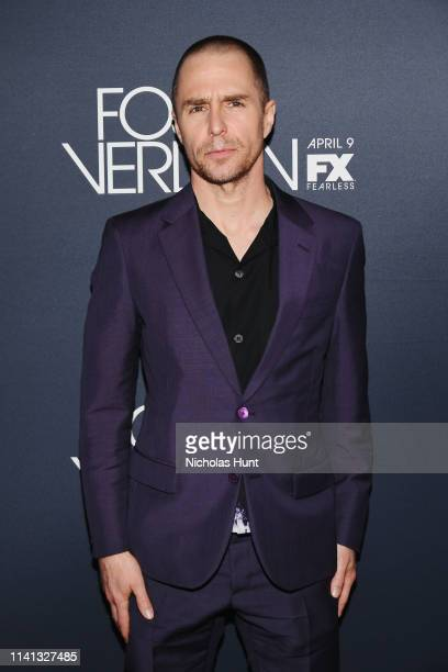 Sam Rockwell attends the New York Premiere for FX's Fosse/Verdon on April 08 2019 in New York City