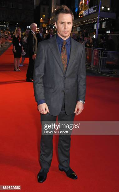 Sam Rockwell attends the UK Premiere of Three Billboards Outside Ebbing Missouri at the closing night gala of the 61st BFI London Film Festival on...
