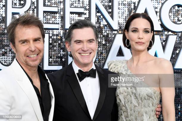 Sam Rockwell, Billy Crudup and Leslie Bibb attend the 26th Annual Screen ActorsGuild Awards at The Shrine Auditorium on January 19, 2020 in Los...