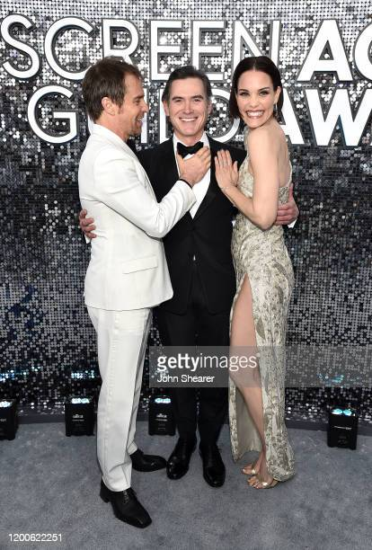 Sam Rockwell, Billy Crudup, and Leslie Bibb attend the 26th Annual Screen Actors Guild Awards at The Shrine Auditorium on January 19, 2020 in Los...