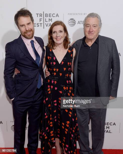 Sam Rockwell Director Susanna White and Robert De Niro attend the Screening of 'Woman Walks Ahead' 2018 Tribeca Film Festival at BMCC Tribeca PAC on...
