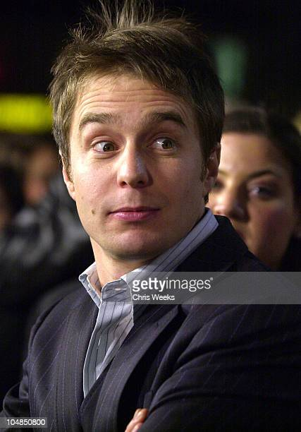 Sam Rockwell during Confessions of a Dangerous Mind Premiere at Mann Bruin Theatre in Westwood California United States
