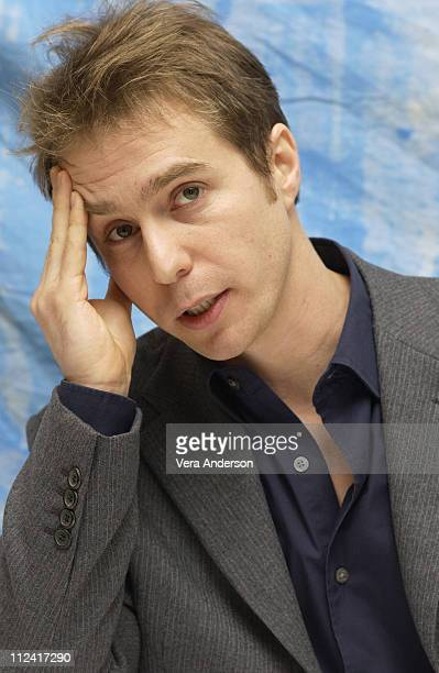 Sam Rockwell during 'Confessions of a Dangerous Mind' Press Conference with George Clooney Drew Barrymore Sam Rockwell and Chuck Barris at The Four...