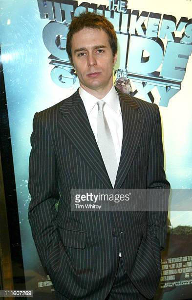 Sam Rockwell during 'Hitchhiker's Guide to the Galaxy' London Premiere Inside Arrivals at UCI Empire in London Great Britain