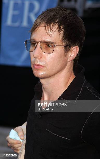 Sam Rockwell during 'Lady in the Water' New York Premiere Outside Arrivals at American Museum of Natural History in New York City New York United...