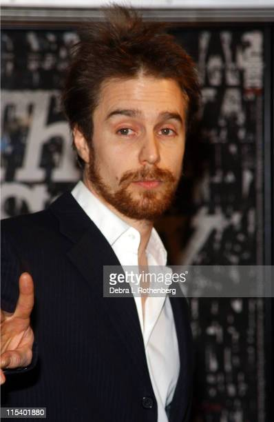 Sam Rockwell during Opening Night Party for 'Embedded' Written and Directed by Tim Robbins at Public in Soho in New York City New York United States