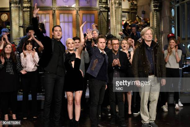 LIVE 'Sam Rockwell' Episode 1735 Pictured Aidy Bryant Melissa Villaseñor GEazy Halsey Sam Rockwell Fred Armisen Bill Murray during 'Goodnights...