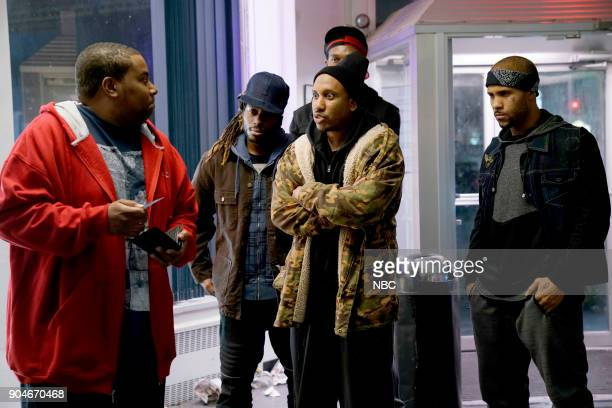 LIVE 'Sam Rockwell' Episode 1735 Pictured Kenan Thompson Chris Redd during 'ATM' on Saturday January 13 2018
