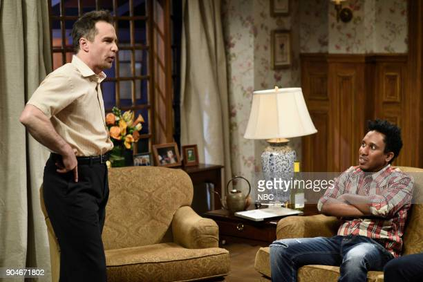 LIVE 'Sam Rockwell' Episode 1735 Pictured Sam Rockwell Chris Redd as Marcus during 'Marcus Comes to Dinner' in Studio 8H on Saturday January 13 2018