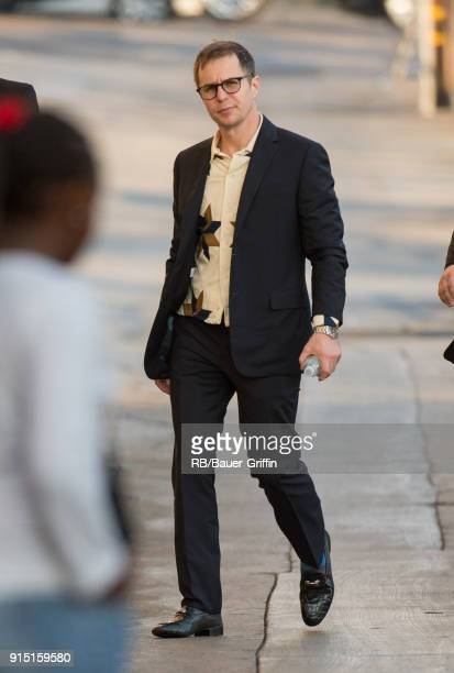 Sam Rockwell is seen at 'Jimmy Kimmel Live' on February 06 2018 in Los Angeles California