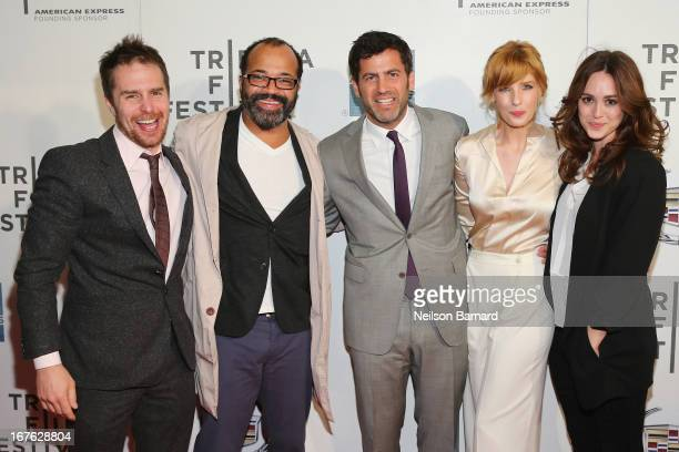 Sam Rockwell Jeffrey Wright Director David Rosenthal Kelly Reilly and Heather Lind attend the Tribeca Film Festival 2013 after party for A Single...