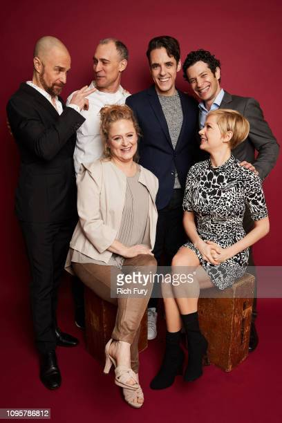 Sam Rockwell Joel Fields Nicole Fosse Steven Levenson Thomas Kail and Michelle Williams of FX's 'Fosse' pose for a portrait during the 2019 Winter...