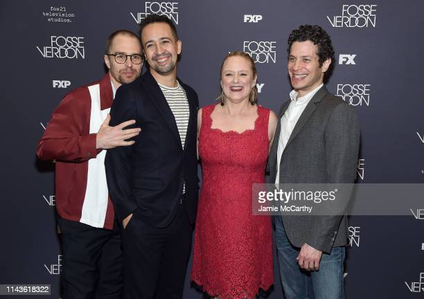 Sam Rockwell LinManuel Miranda Nicole Fosse and Thomas Kail attend the 'Fosse/Verdon' Screening And Conversation at 92nd Street Y on April 18 2019 in...