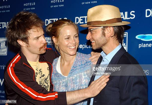 Sam Rockwell Maria Bello and Fisher Stevens during 4th Annual New York Benefit of The 24 Hour Plays at The Whiskey at W Times Square in New York City...