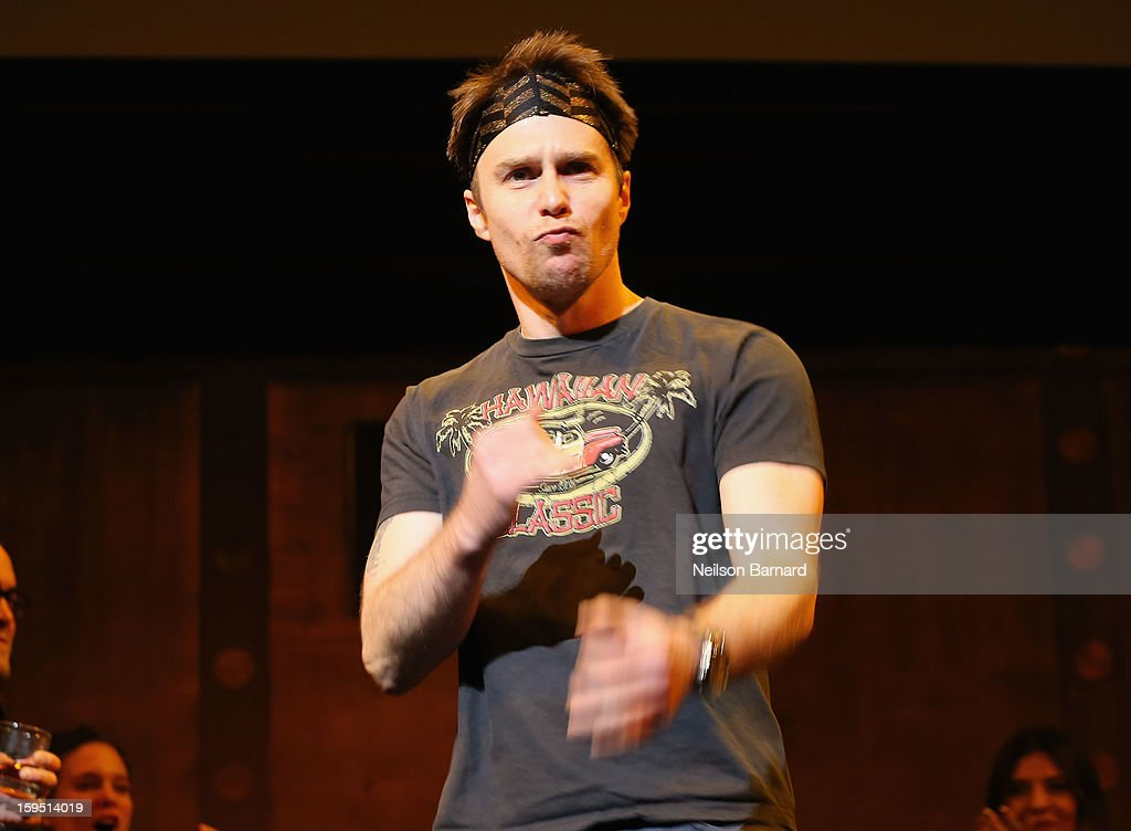 Sam Rockwell onstage at LAByrinth Theater Company Celebrity Charades 2013 Benefit Gala at Capitale on January 14, 2013 in New York City.