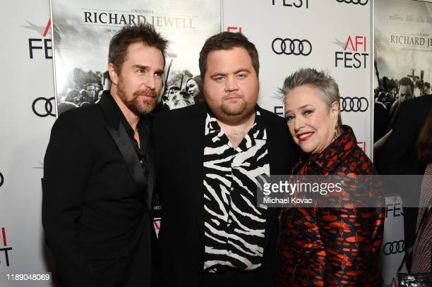 Sam Rockwell Paul Walter Hauser and Kathy Bates attend the Richard Jewell premiere during AFI FEST 2019 Presented By Audi at TCL Chinese Theatre on...