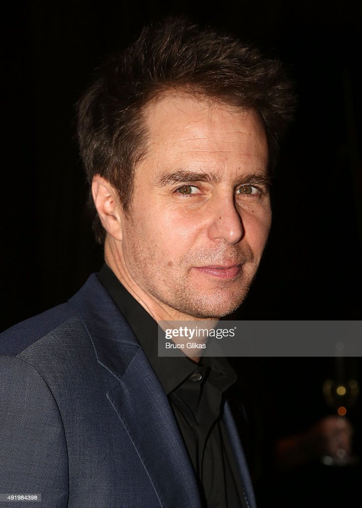 Sam Rockwell poses at The Opening Night for the MTC production of Sam Shepard's 'Fool For Love' on Broadway at Urbo NYC on October 8, 2015 in New York City.