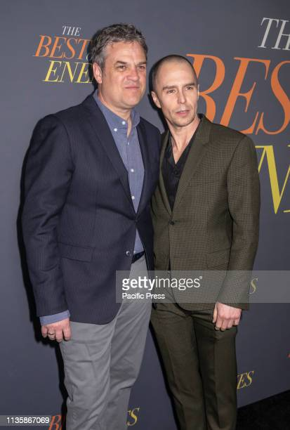 Sam Rockwell Robin Bissell and Sam Rockwell attend 'The Best Of Enemies' New York Premiere at AMC Loews Lincoln Square Manhattan