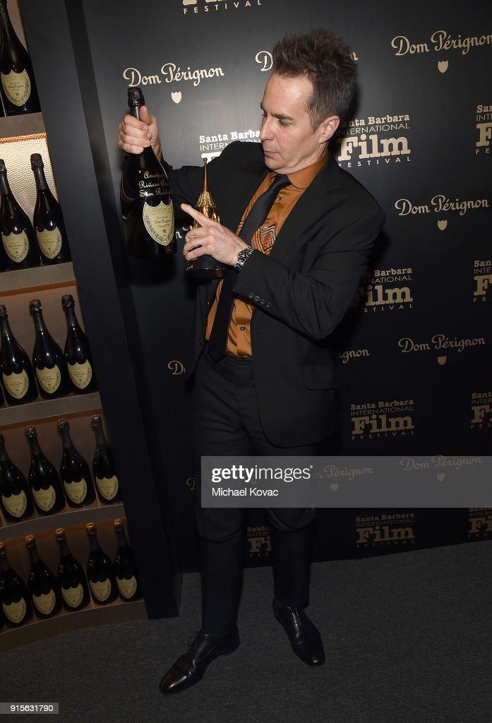 The Dom Perignon Lounge At The Santa Barbara International Film Festival Honoring Sam Rockwell : News Photo