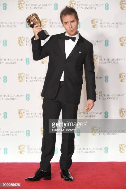 Sam Rockwell winner of the Best Supporting Actor award for 'Three Billboards Outside Ebbing Missouri' poses in the press room during the EE British...
