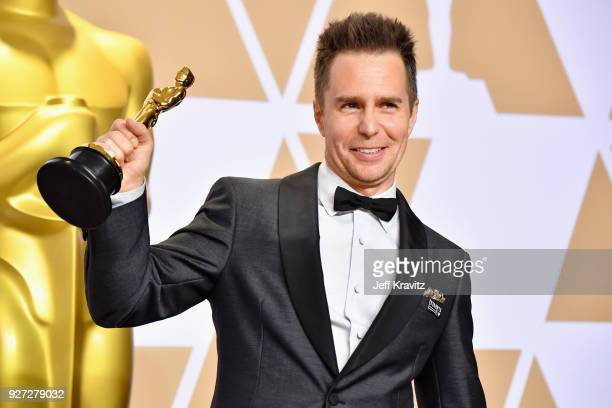 "Sam Rockwell winner of the Best Supporting Actor for ""Three Billboards Outside Ebbing Missouri"" poses in the press room during the 90th Annual..."