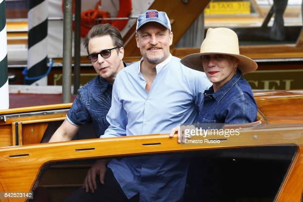 Sam Rockwell Woody Harrelson and Frances McDormand are seen during the 74th Venice Film Festival at Excelsior Darsena on September 4 2017 in Venice...
