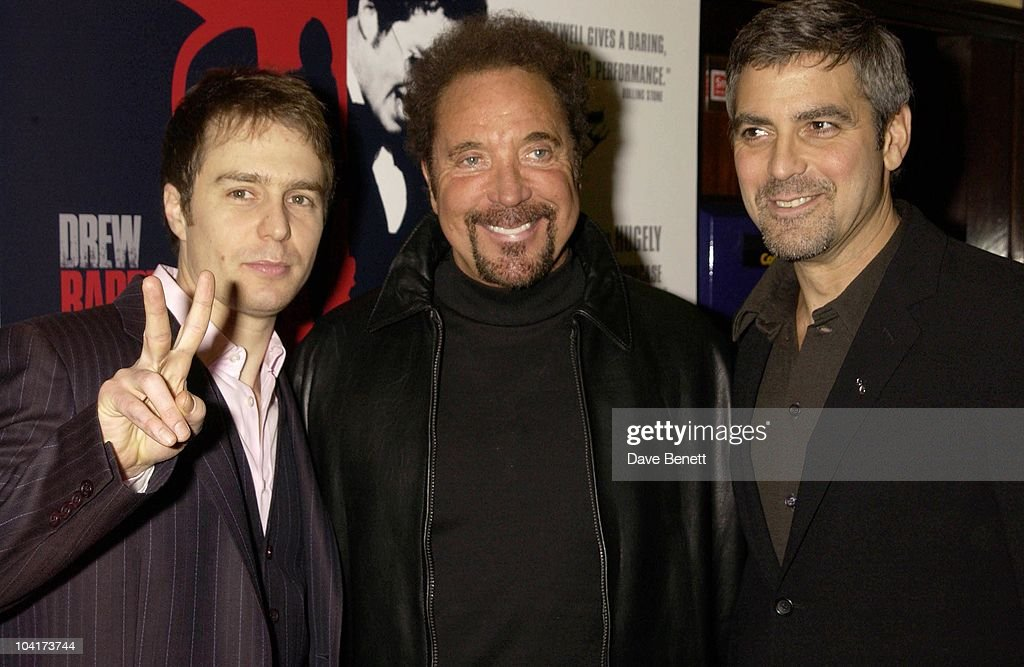 Sam Rockwell,tom Jones And George Clooney, Confessions Of A Dangerous Mind The Movie That Marks The Directorial Debut.premiered In London Last Night.and The Party Was At Elyceum At The Cafe Royal
