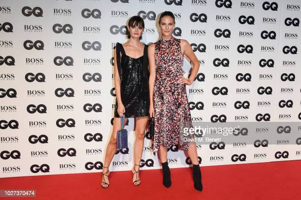 Sam Rollinson and Charlotte Wiggins attend the GQ Men of the Year Awards 2018 in association with HUGO BOSS at Tate Modern on September 5 2018 in...