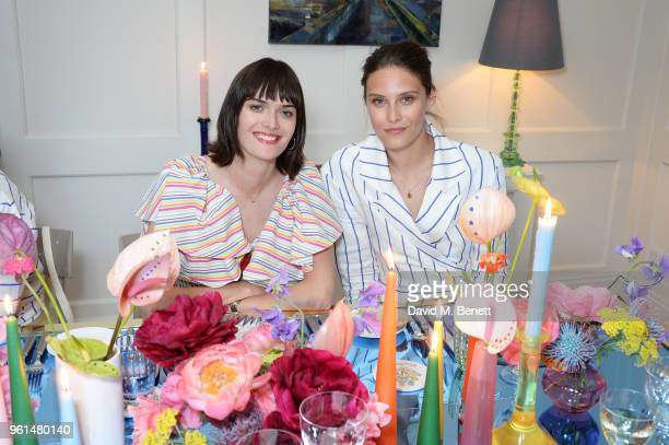 Sam Rollinson and Charlotte Wiggins attend the NETAPORTER dinner hosted by Alison Loehnis to celebrate the launch of Rosie Assoulin's exclusive...