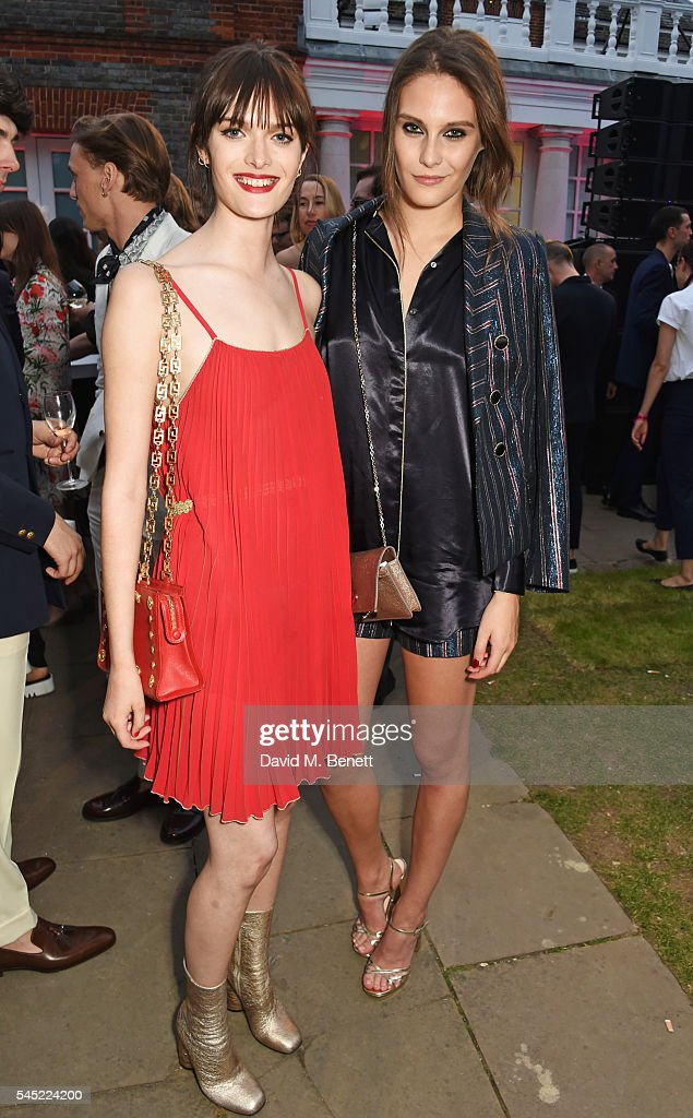 Sam Rollinson (L) and Charlotte Wiggins attend The Serpentine Summer Party co-hosted by Tommy Hilfiger on July 6, 2016 in London, England.