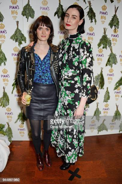 Sam Rollinson and Erin O'Connor attend the Pimm's No6 Vodka Cup official launch party at 12 Golden Square on April 11 2018 in London England Pimm's...
