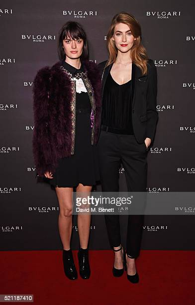 Sam Rollinson and Eve Delf arrive at the Bulgari flagship store reopening on New Bond Street on April 14 2016 in London England
