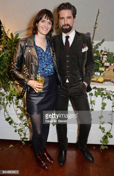 Sam Rollinson and Jack Guinness attend the Pimm's No6 Vodka Cup official launch party at 12 Golden Square on April 11 2018 in London England Pimm's...