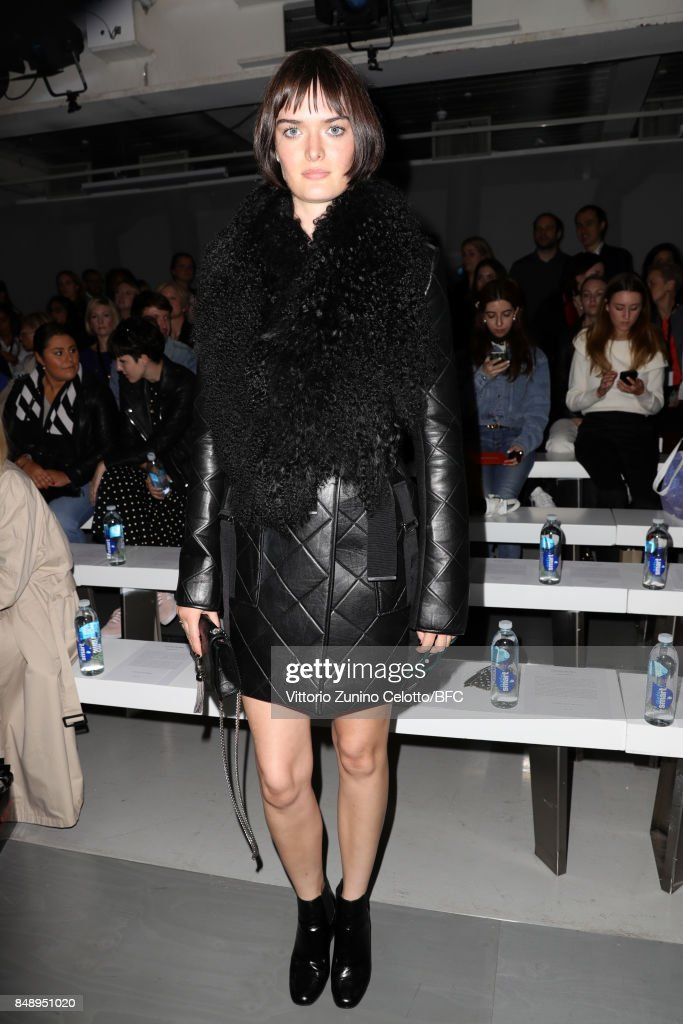 Sam Rollinson attends the David Koma show during London Fashion Week September 2017 on September 18, 2017 in London, England.