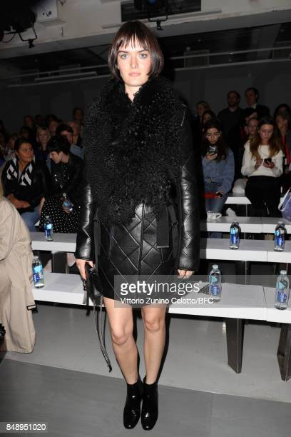 Sam Rollinson attends the David Koma show during London Fashion Week September 2017 on September 18 2017 in London England