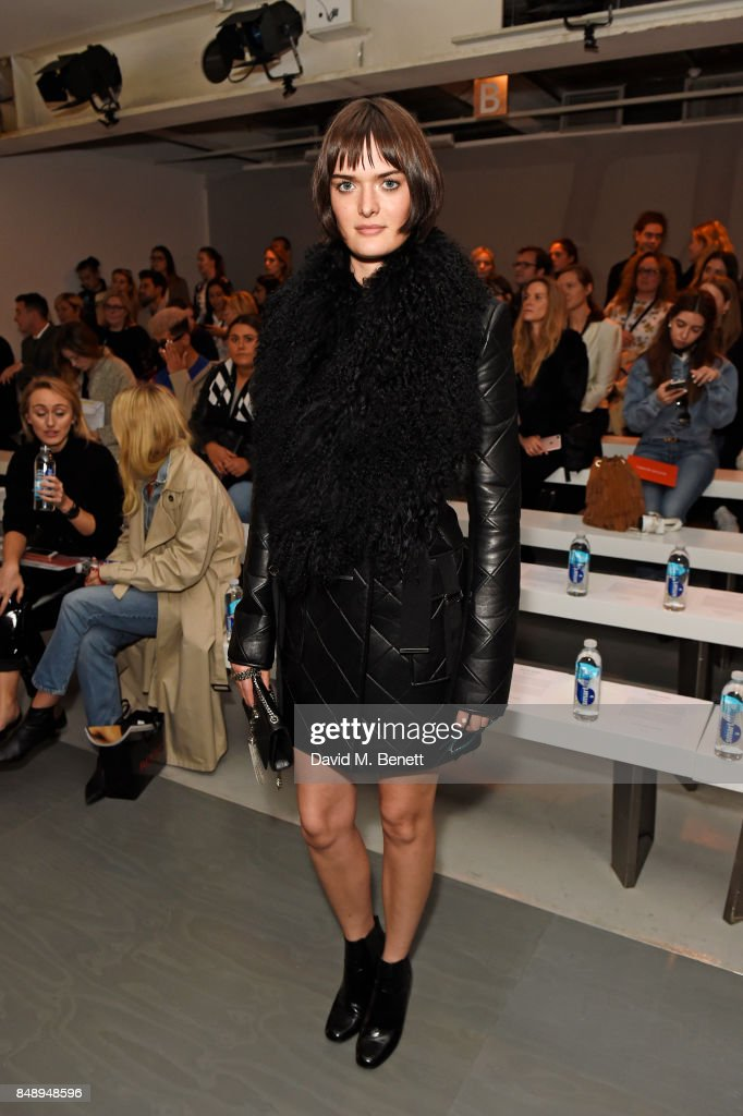 Sam Rollinson attends the David Koma SS18 catwalk show during London Fashion Week September 2017 at The National Theatre on September 18, 2017 in London, England.