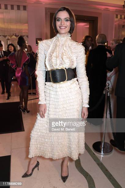 Sam Rollinson attends the Harper's Bazaar Women of the Year Awards 2019, in partnership with Armani Beauty, at Claridge's Hotel on October 29, 2019...