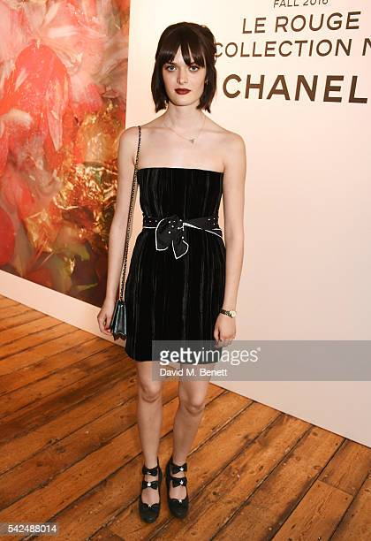 Sam Rollinson attends the launch of Lucia Pica's makeup collection for Chanel at Somerset House on June 23 2016 in London England