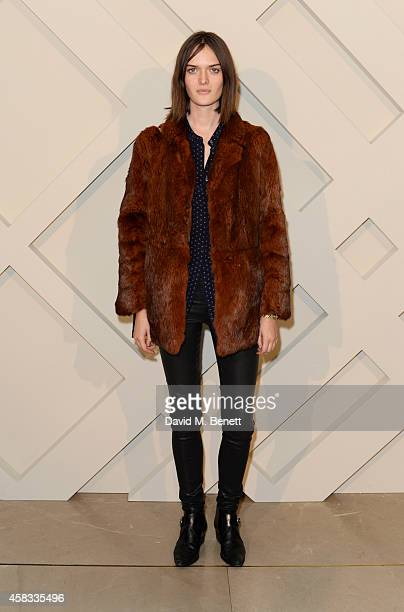 Sam Rollinson attends the launch of the Burberry festive campaign at 121 Regent Street on November 3 2014 in London England