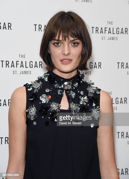 Sam Rollinson attends the launch of The Trafalgar St James in the hotel's spectacular new bar The Rooftop on October 18 2017 in London England