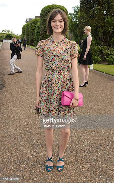 Sam Rollinson attends The Ralph Lauren Vogue Wimbledon Summer Cocktail Party hosted by Alexandra Shulman and Boris Becker at The Orangery at...