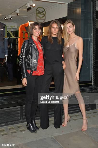 Sam Rollinson Charlotte Wiggins and Eve Delf attend the launch of the 'Kingsman' shop on St James's Street in partnership with MR PORTER MARV...