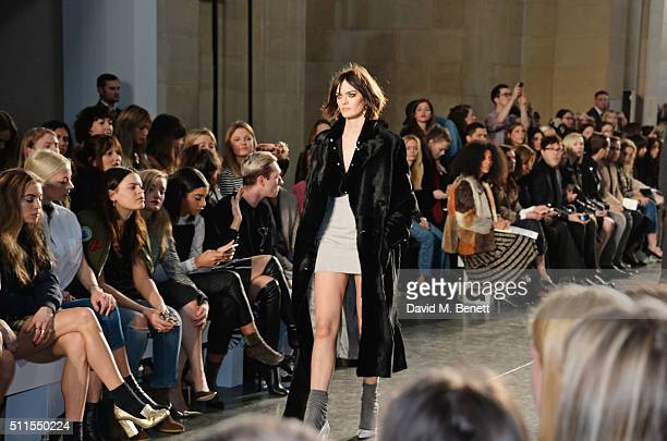 Sam Rollinson walks the runway attends the Topshop Unique at The Tate Britain on February 21 2016 in London England