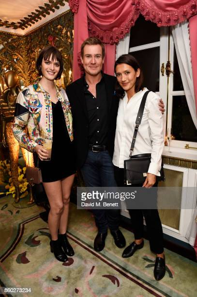 Sam Rollinson William BanksBlaney and Hikari Yokoyama attend the William Vintage x Farfetch Gianni Versace archive launch dinner at The Dorchester on...